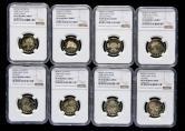 2008年第29届奥运会精制流通纪念币八枚一套(NGC PF69)