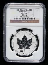 2012年加拿大枫叶1盎司银币一枚(NGC SP69)