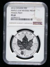 2016年加拿大枫叶1盎司银币一枚(NGC PF69)