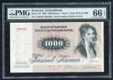 1986年丹麦纸钞一枚(1085046、PMG 66EPQ)