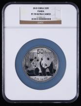 2010年熊猫5盎司精制银币一枚(NGC PF70)