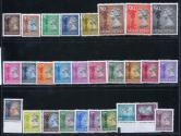 香港1992年英女皇普票新28全(备份带边、色标)