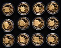 2008年上海造币厂制国宝生肖圆明园至尊兽首3克纪念金章十二枚一套(带盒、带证书、带附件)