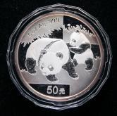 2008年熊猫5盎司精制银币一枚(带证书)