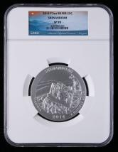 2014年美国5盎司银币一枚(P版、含银量:99.9%、NGC SP70)
