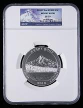 2010年美国5盎司银币一枚(P版、含银量:99.9%、NGC SP70)