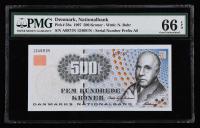 1997年丹麦纸钞一枚(124691N、PMG 66EPQ)
