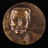 上海造币厂铸冰心大铜章一枚(直径:80mm、发行量:300枚、带盒、带证书)