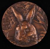 """上海造币厂铸""""兔""""大铜章一枚(直径:80mm、带盒、带证书)"""