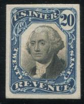 美国1890年华盛顿20分卡纸proof新一枚