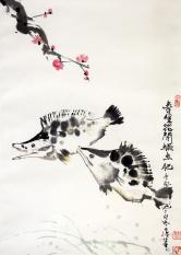 曹凤池 春暖花开鳜鱼肥