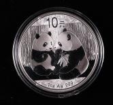 2009年熊猫1盎司普制银币一枚(带盒)