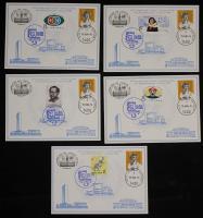 贴JT票、小本票内芯、德国票10枚中德邮展纪念邮卡五件