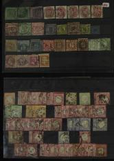 德国早期鹰徽邮票旧77枚(不同版本)、早期巴登、普鲁士、拜耳、萨克森等地区邮票旧29枚(部分成套)