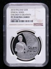 2010年芬兰银币一枚(NGC PF70)