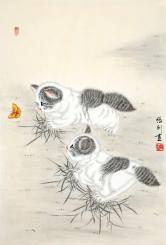 张利 猫蝶图