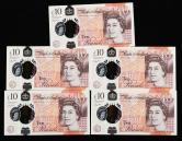 英国塑料钞五枚(豹子号)