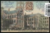 清上海寄德国上海海关大楼明信片一件、贴清蟠龙4分一枚、销上海中英文戳