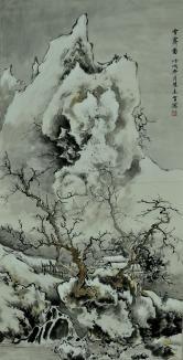 陈长智 雪霁图