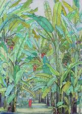 祝大年 版画《香蕉园(34/500)》