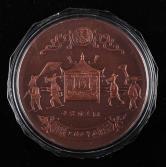 上海造币厂1996年十二星座生肖系列丙子鼠年大铜章一枚(直径:80mm、带盒、带说明书)