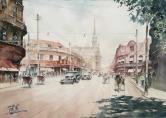 陆勇 1940年静安寺路(南京西路)东望