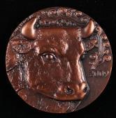 上海造币厂铸2009年乙丑牛年属相大明升体育88一枚(直径:80mm、原盒、带说明书)