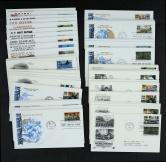 美国二战小型张1991-1994年贴双枚邮票首日封四套20件、贴单枚邮票首日封四套40件