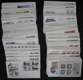 美国87-89年邮票首日封157件(含四方连、无重复)