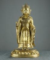 铜鎏金旃檀佛
