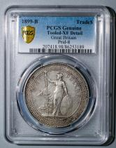 1899年英國站洋26.96克銀幣一枚(含銀量:90%、PCGS XF Detail)