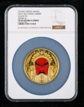 2012年京剧脸谱第(3)组-关羽5盎司精制彩金币一枚(原盒、带证书、NGC PF69)