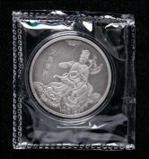 2019年上海造币有限公司铸造文殊菩萨60克仿古银章一枚(限铸量:18枚、带盒、带证书)