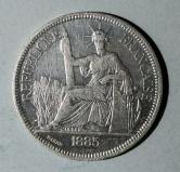 1885年法国坐洋27克银币一枚(含银量:90%)
