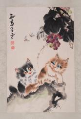 孙菊生 双猫图
