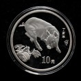 赵涌在线_钱币类_2007年丁亥猪年生肖1盎司普制银币一枚(带盒、带证书)