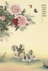 黃琳清 絹本花卉