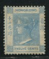 赵涌在线_邮票类_香港1862古典维多利亚女皇12c浅蓝色新一枚(水印CC、原胶)