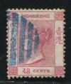赵涌在线_邮票类_香港1863-74古典维多利亚女皇48c旧一枚(玫红、鲜色、水印CC、难求)