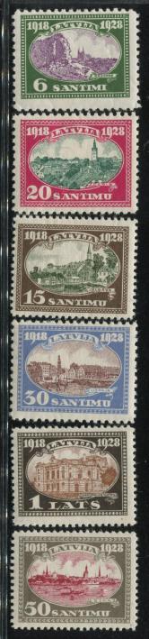 1928年立陶宛古典纪念票新六全