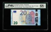 2015年20欧元纸钞一枚(XA1161515232、PMG 68EPQ)