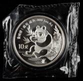 1991年熊猫1盎司普制银币一枚