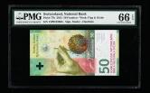 2015年瑞士纸钞一枚(15P0103663、PMG 66EPQ)
