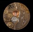赵涌在线_钱币类_上海造币有限公司发行上海申泉工贸有限公司成立二十周年大铜章一枚(直径:90mm、带盒、带证书)