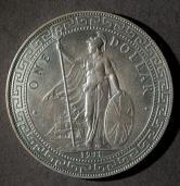 1911年英国站洋26.96克银币一枚(含银量:90%)