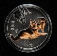赵涌在线_钱币类_2006年丙戌狗年生肖1盎司精制彩银币一枚(带证书)