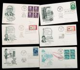 美國首日封、明信片、郵資片505件(部分實寄)