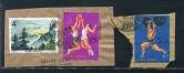 贴特73(8-1)、纪116(11-10、11)各一枚剪片销北京海关戳二件