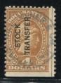 赵涌在线_邮票类_美国古典税票4元加盖变体旧一枚(齿孔移位、底部漏齿)