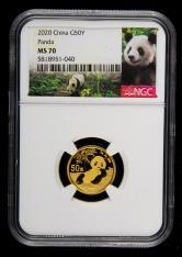 2020年熊猫3克普制金币一枚(NGC MS70)